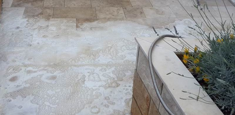 Čišćenje kamena solnom kiselinom